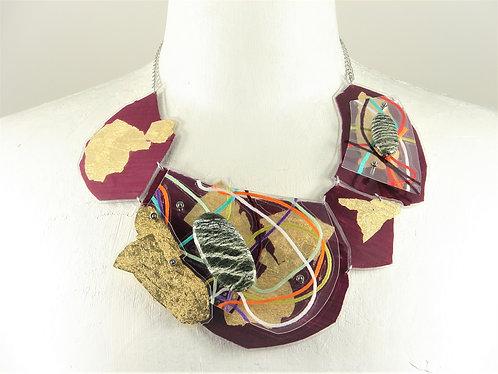 Laminated Fabric Necklace-3