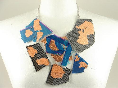 Laminated Fabric Necklace-5