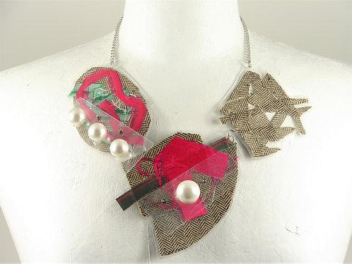 Laminated Fabric Necklace-1