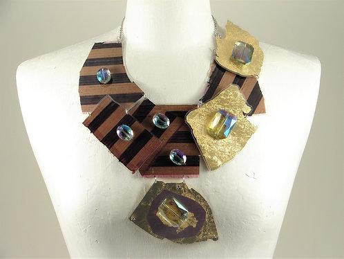 Laminated Fabric Necklace-13