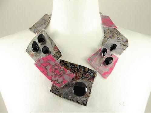 Laminated Fabric Necklace -18