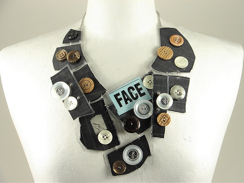 Laminated Fabric Necklace-14