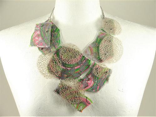 Laminated Fabric Necklace -12