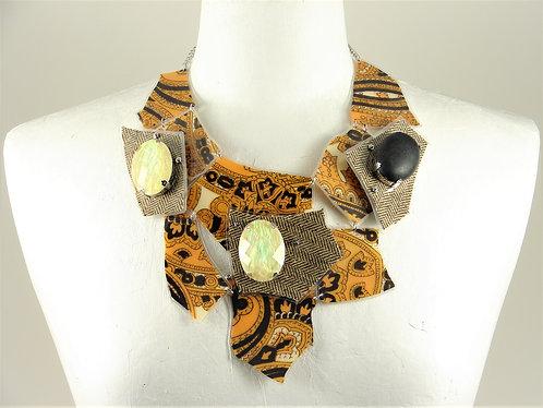 Laminated Fabric Necklace-6