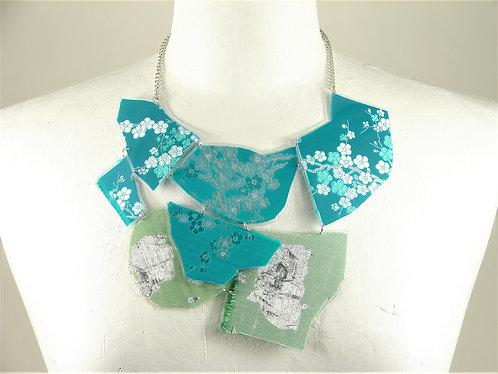 Laminated Fabric Necklace-10
