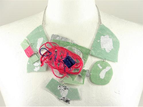 Laminated Fabric Necklace-4