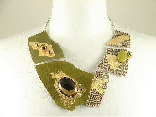 Laminated Fabric Necklace-7