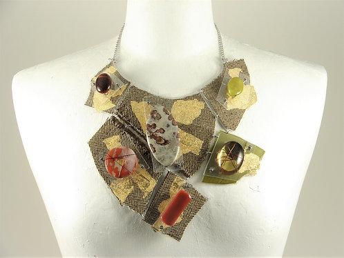 Laminated Fabric Necklace-16