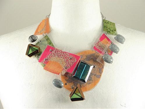 Laminated Fabric Necklace -19