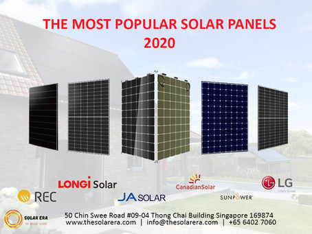 The Most Popular Solar Panels 2020