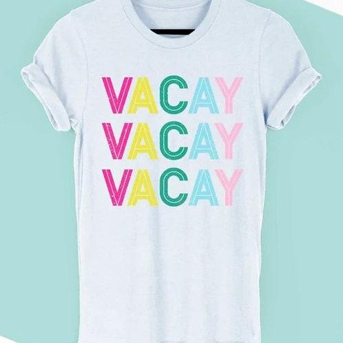 """""""Rainbow Vacay"""" (White)"""