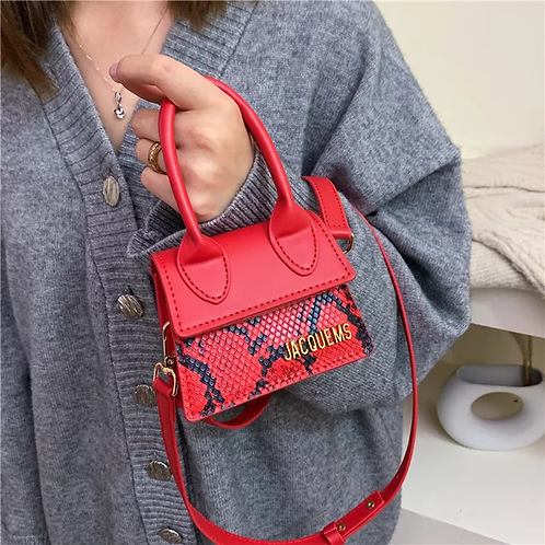 Mini Snakeskin Bag