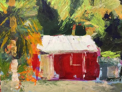 tropical colors, ellen wakefield, acrylic painting