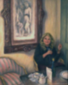 nancy telliaferro, oil painting, l'apperatif