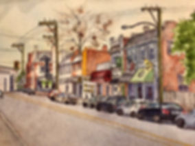 marti franks, watercolor, north robinson street