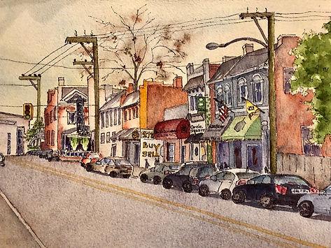 marti franks, watercolor, north robinson street