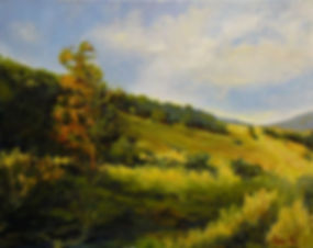 anne via, acrylic painting, shenandoah valley