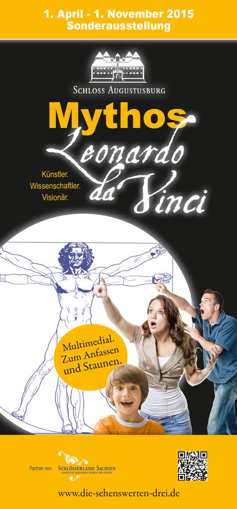 Werbeauftritt für die Sonderausstellung Leonardo da Vinci