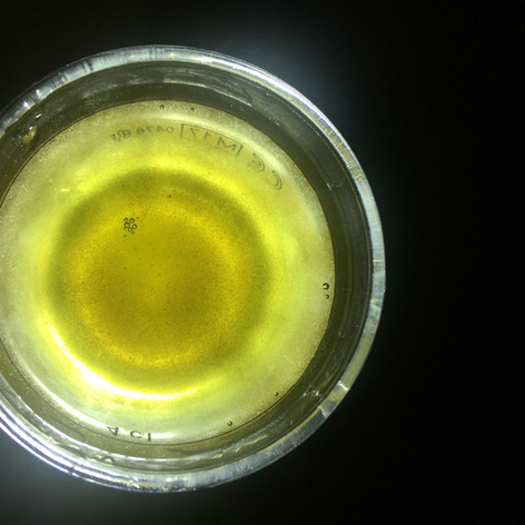 Goldgelbes Glitzern im Glas: Der Glitzer Korn Flying UniKorn!