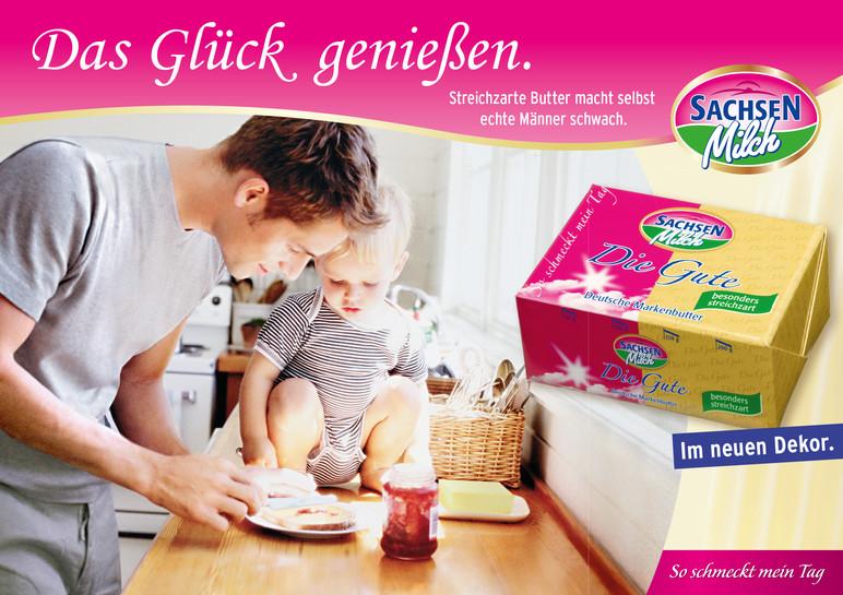 Plakatwerbung für Butter