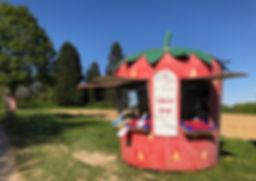 Das Erdbeerhäuschen der Obstanlagen Mönc