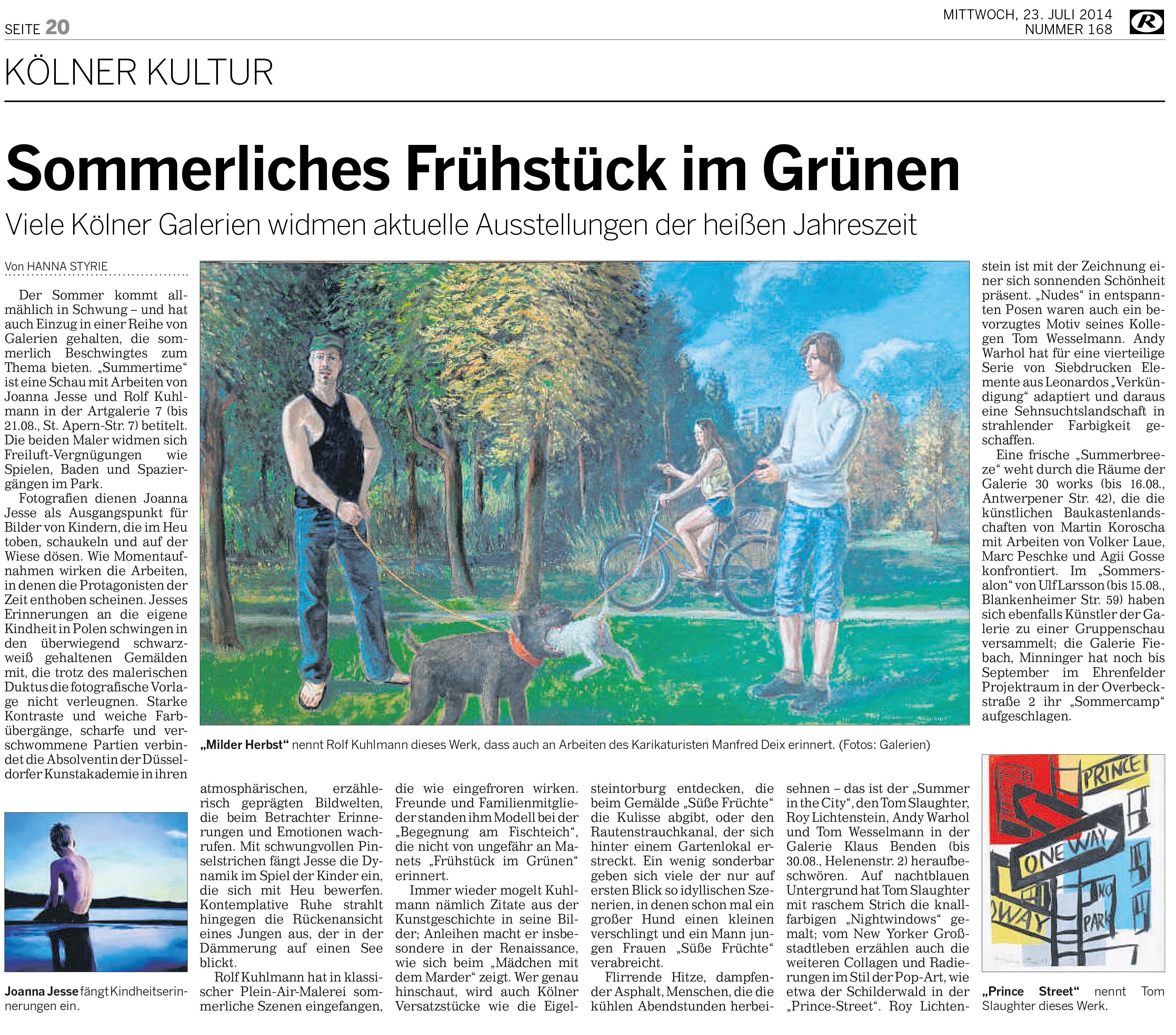 Kölnische Rundschau, Juli 2014