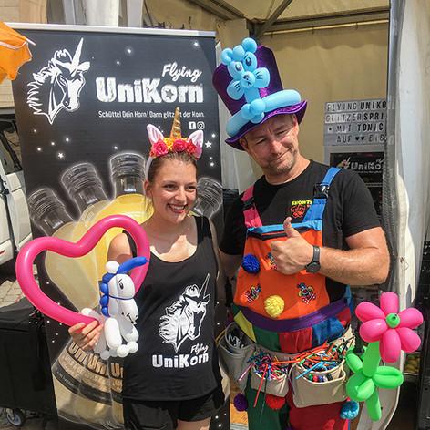 Ein Einhorn vom Ballonkunst-Weltmeister