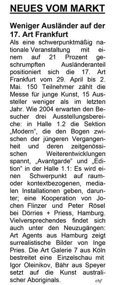 Handelsblatt, 15.4.2005