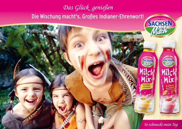 Werbemotiv Milch-Mix