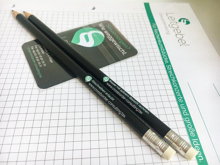 Werbemittel Bleistift, Screen Cleaner, Schreibblock