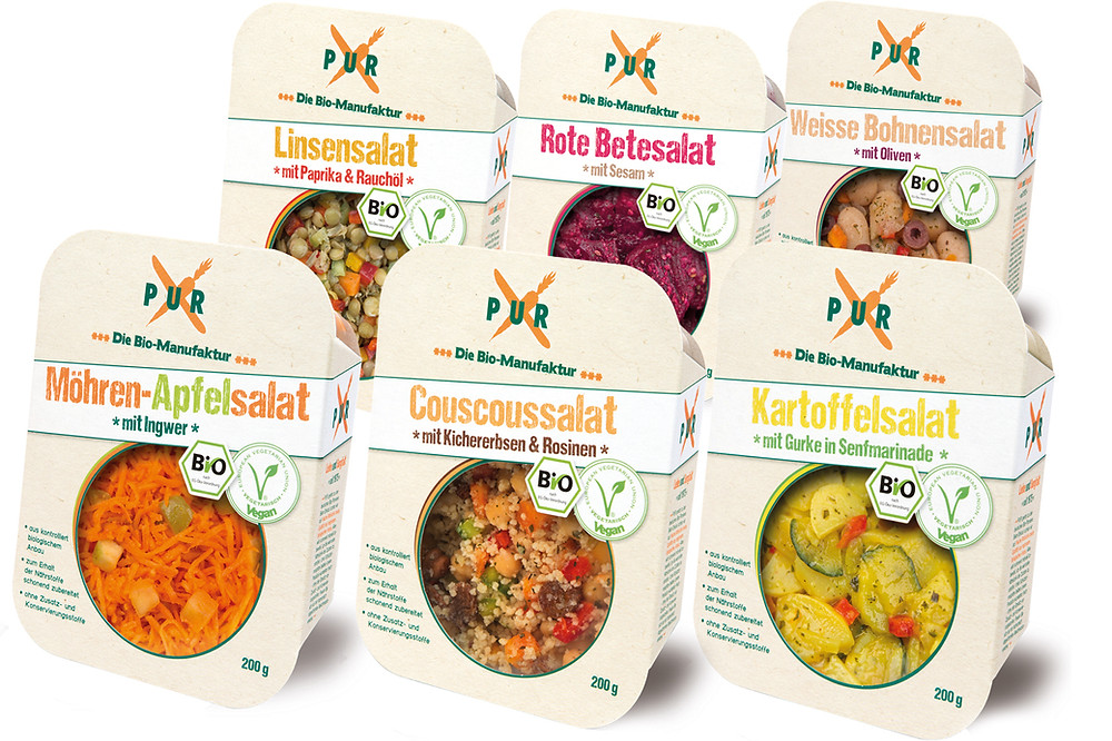 PUR BIO Salate Packung Design