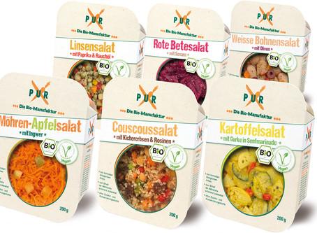 Vegane Salate im neuen Packaging Design von LIEBE DEINE WELT, Köln