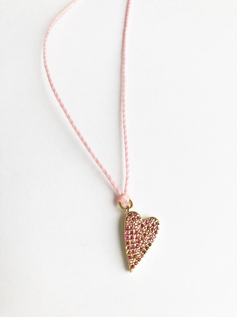 Pink Pave Loop Necklace