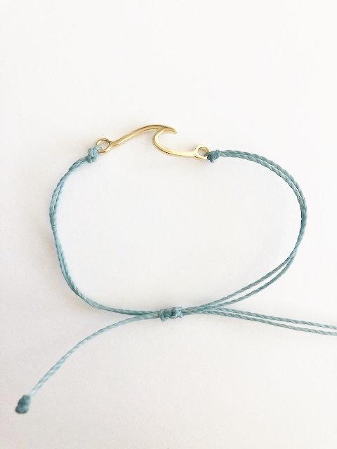 Marin Wave Bracelet - GOLD - seafoam