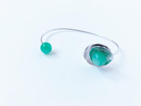 Vintage Sweet Pea Cuff Bracelet