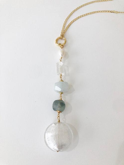 OCEAN Treasure Trove Necklace Layering Charm Chain 2 in 1