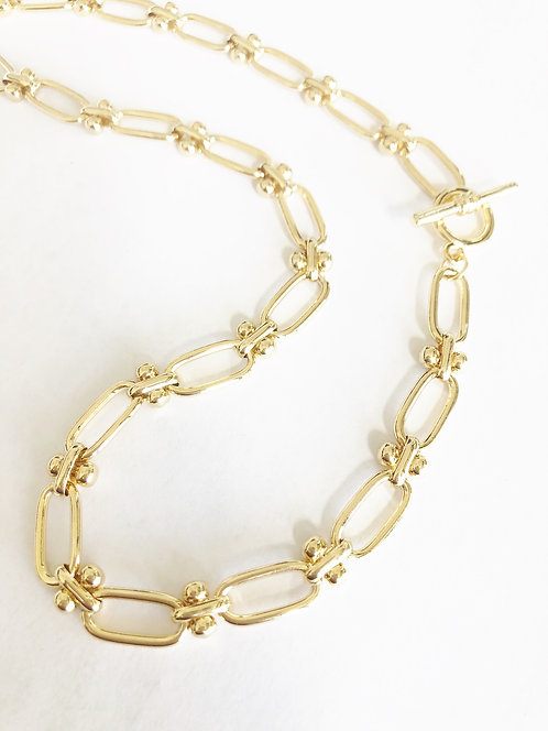 Linked by Love Simple Toggle Chain - GOLD