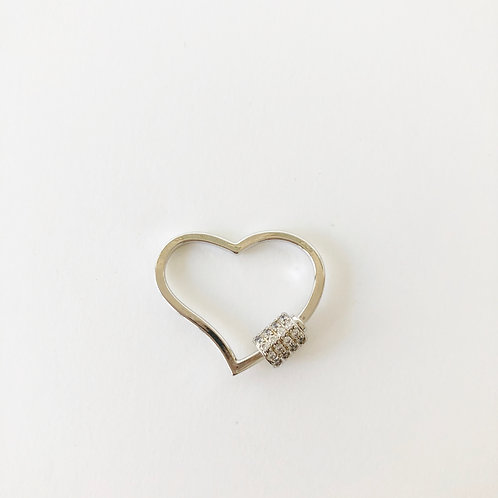 Silver Heart Carabiner - Large