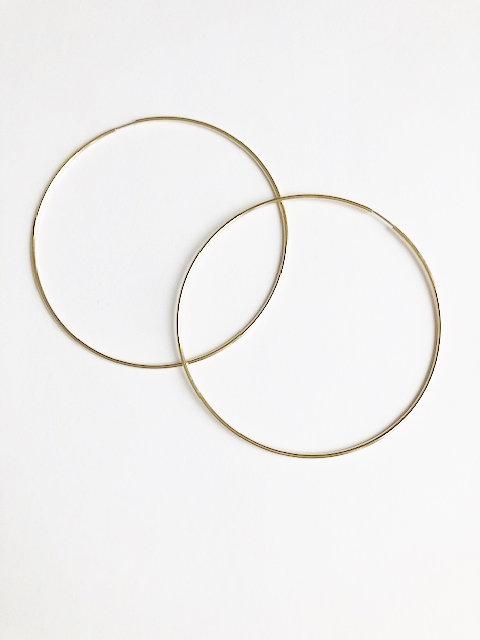 Gold Fine Hoops - 73mm