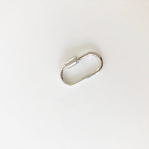 Simple Oval Carabiner Clasp - Silver