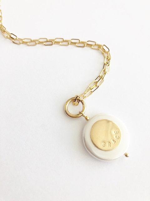 Pearl GRACE pendant - GOLD 2
