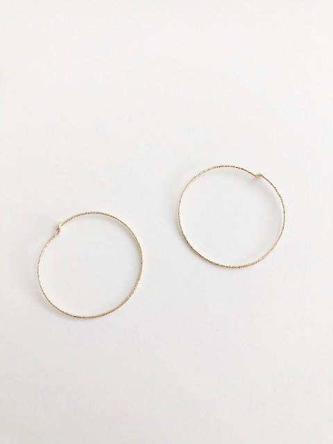 Fine Sparkle Hoops - GOLD