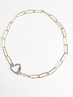 Love Links - Silver on Gold