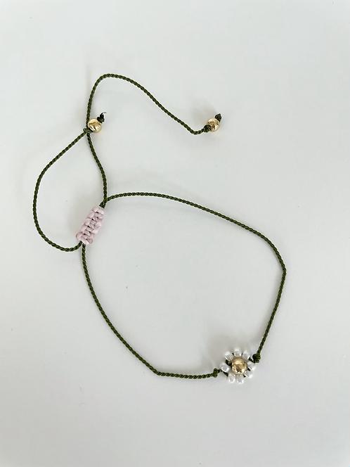 Forget Me Knot Friendship Bracelet - Single Green