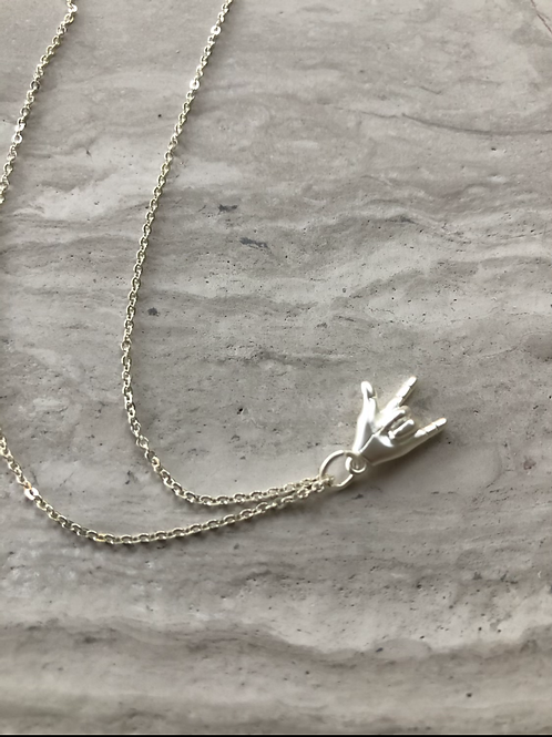 Rock On Necklace - Silver
