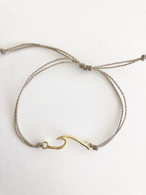 Marin Wave Bracelet - GOLD - taupe