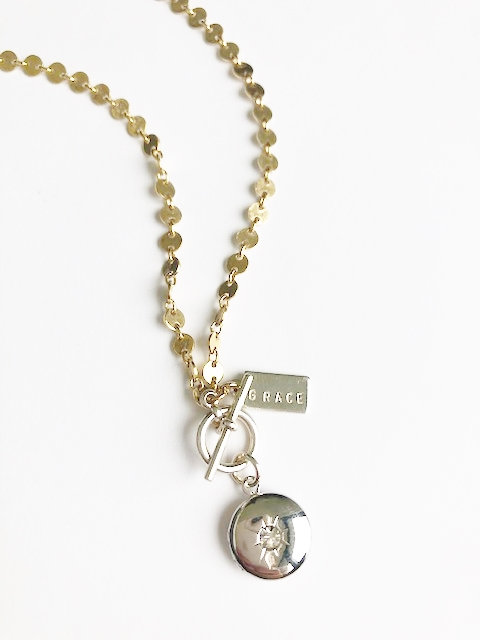 GRACE mixed metal locket