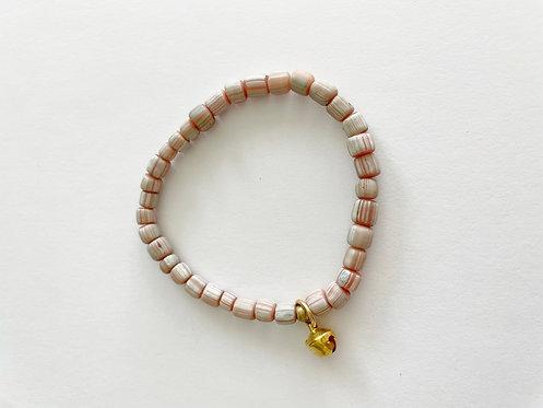 Pink Java Stack On Elastic Bracelet