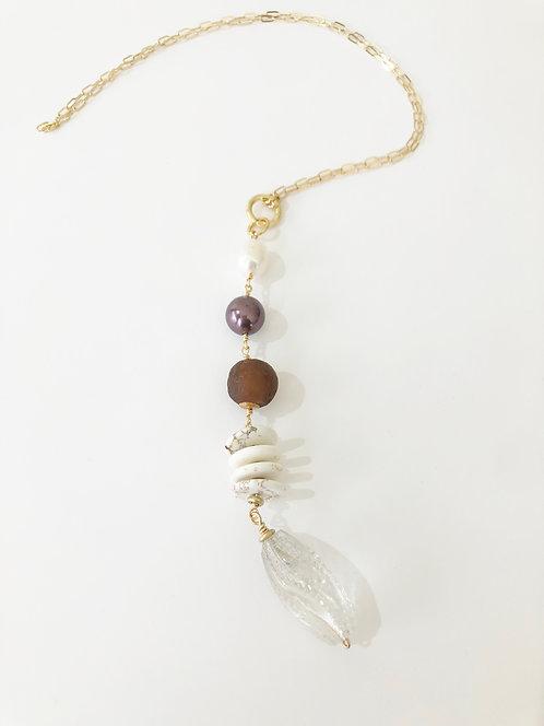 AMBER Treasure Trove Necklace Layering Charm Chain 2 in 1