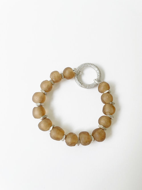 SAND Recycled Sea Glass Silver Clasp  Bracelet